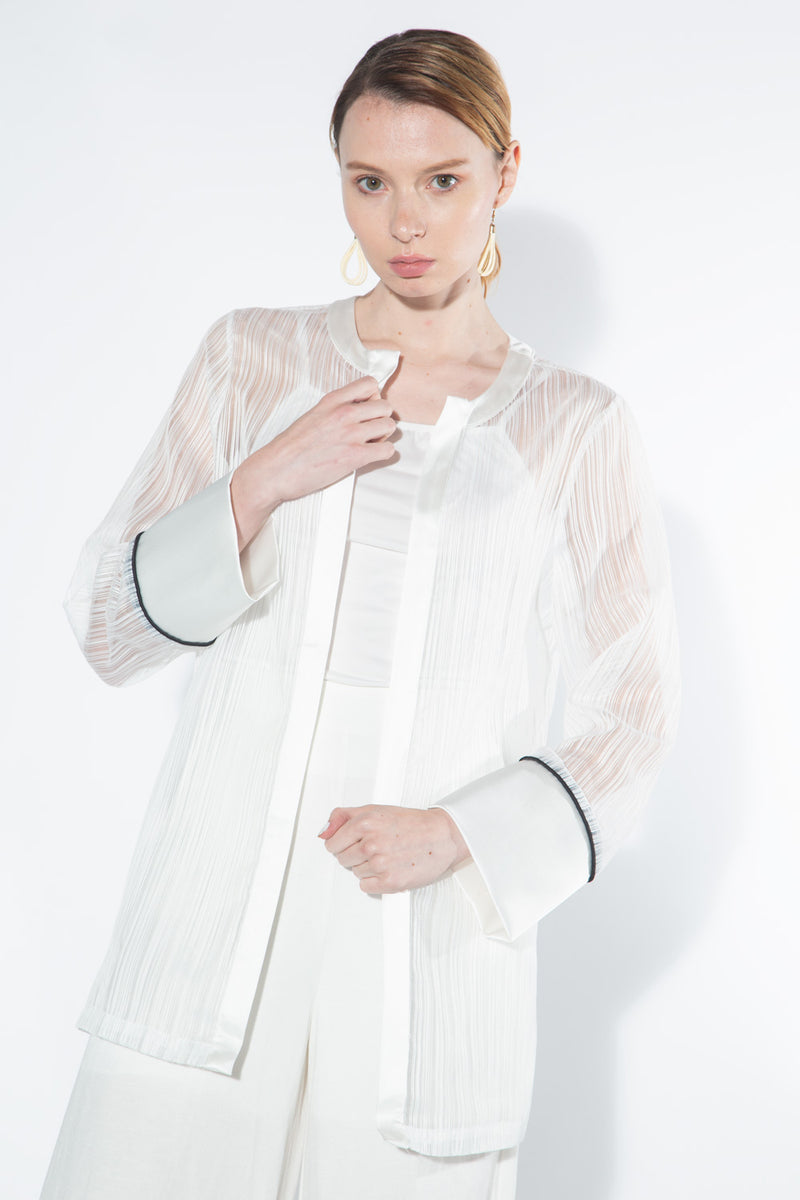 Sheer Organza Jacket - Shop Beulah Style