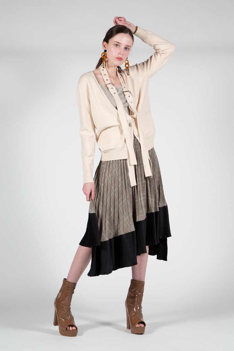 Cardigan with Belt Around Neckline - Shop Beulah Style