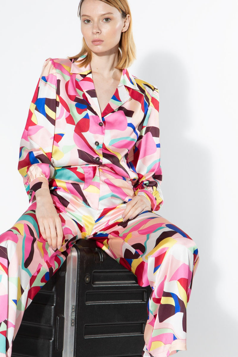 Pink Abstract Print Set - Shop Beulah Style