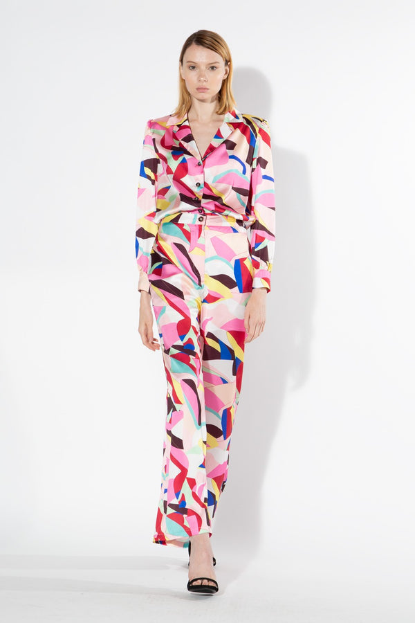 Pink Abstract Print Set