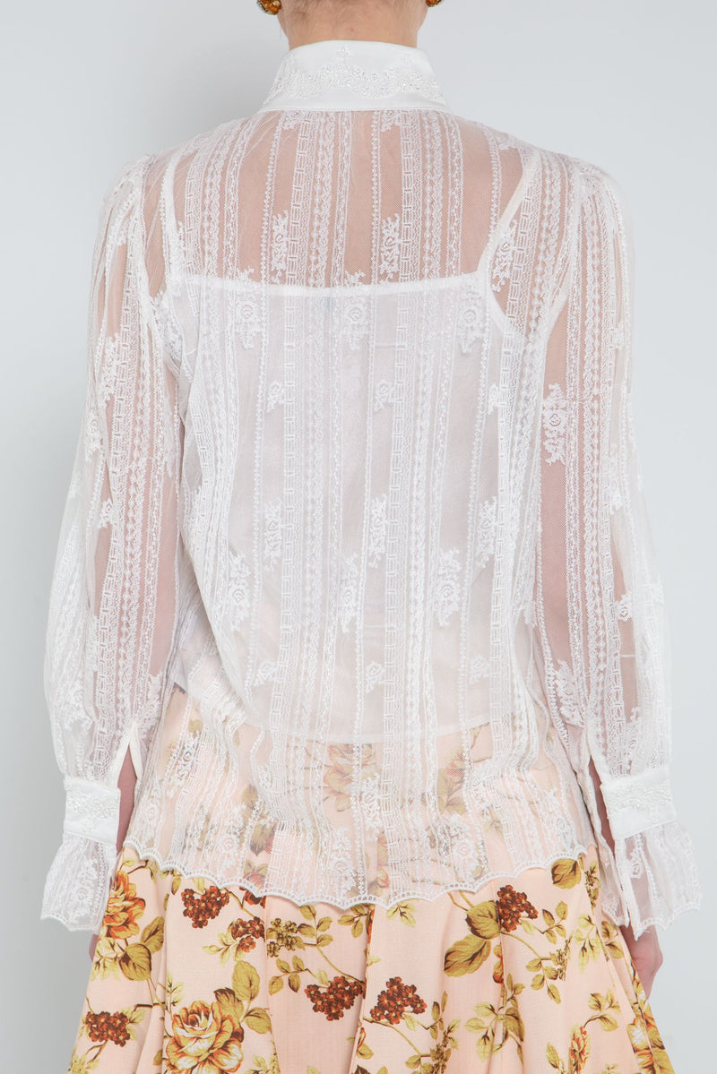 Long Sleeve Lace Blouse - Shop Beulah Style