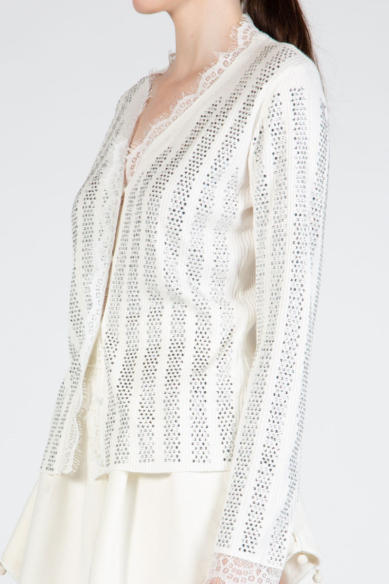 Ribbed Sweater with Stone Stripes - Shop Beulah Style