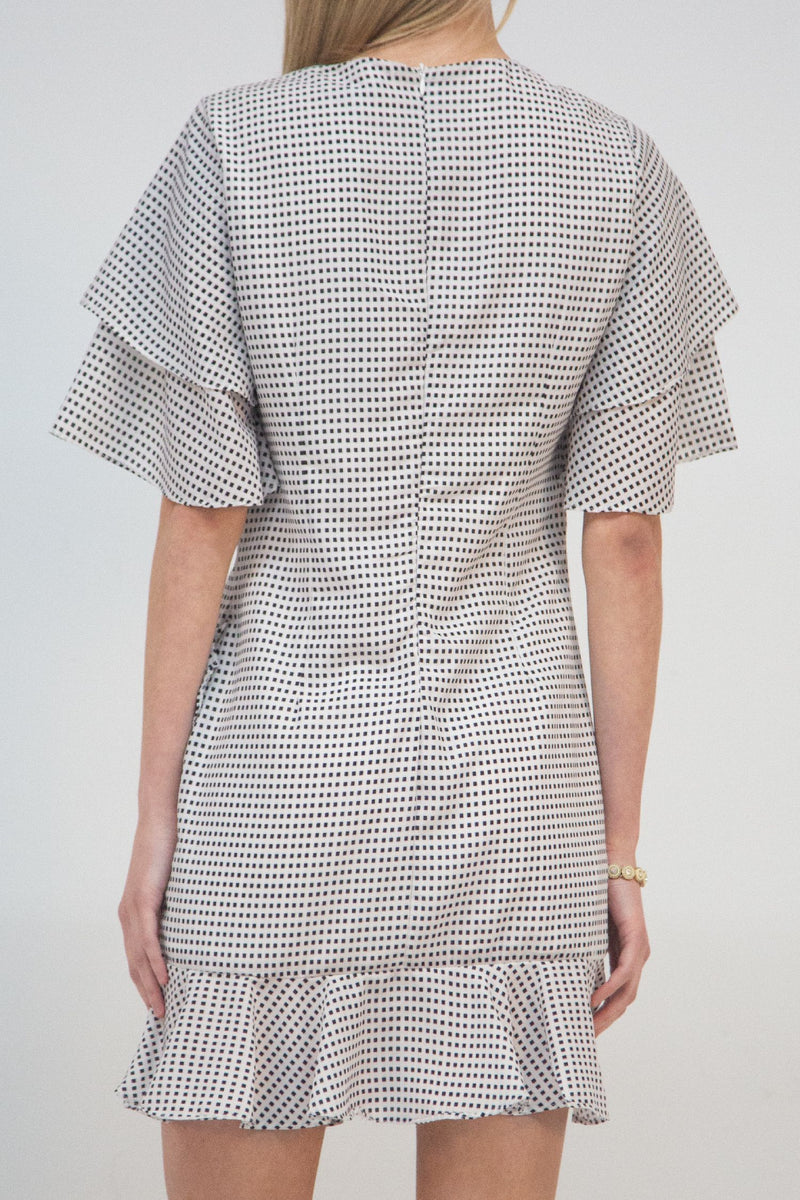Windowpane Checker Mini Dress - Shop Beulah Style