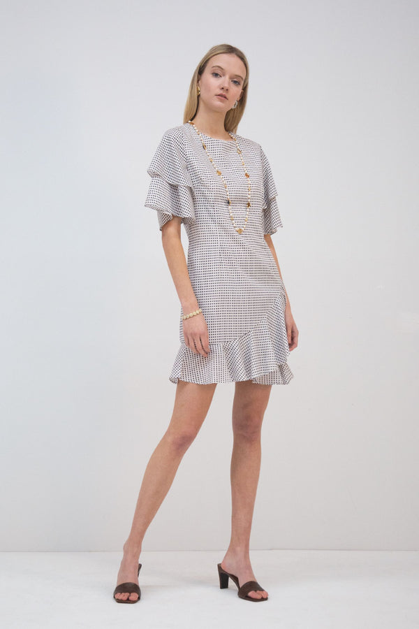 Windowpane Checker Mini Dress