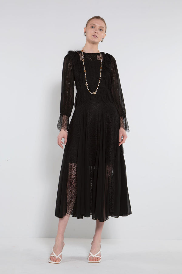 Maxi Chiffon Lace Dress