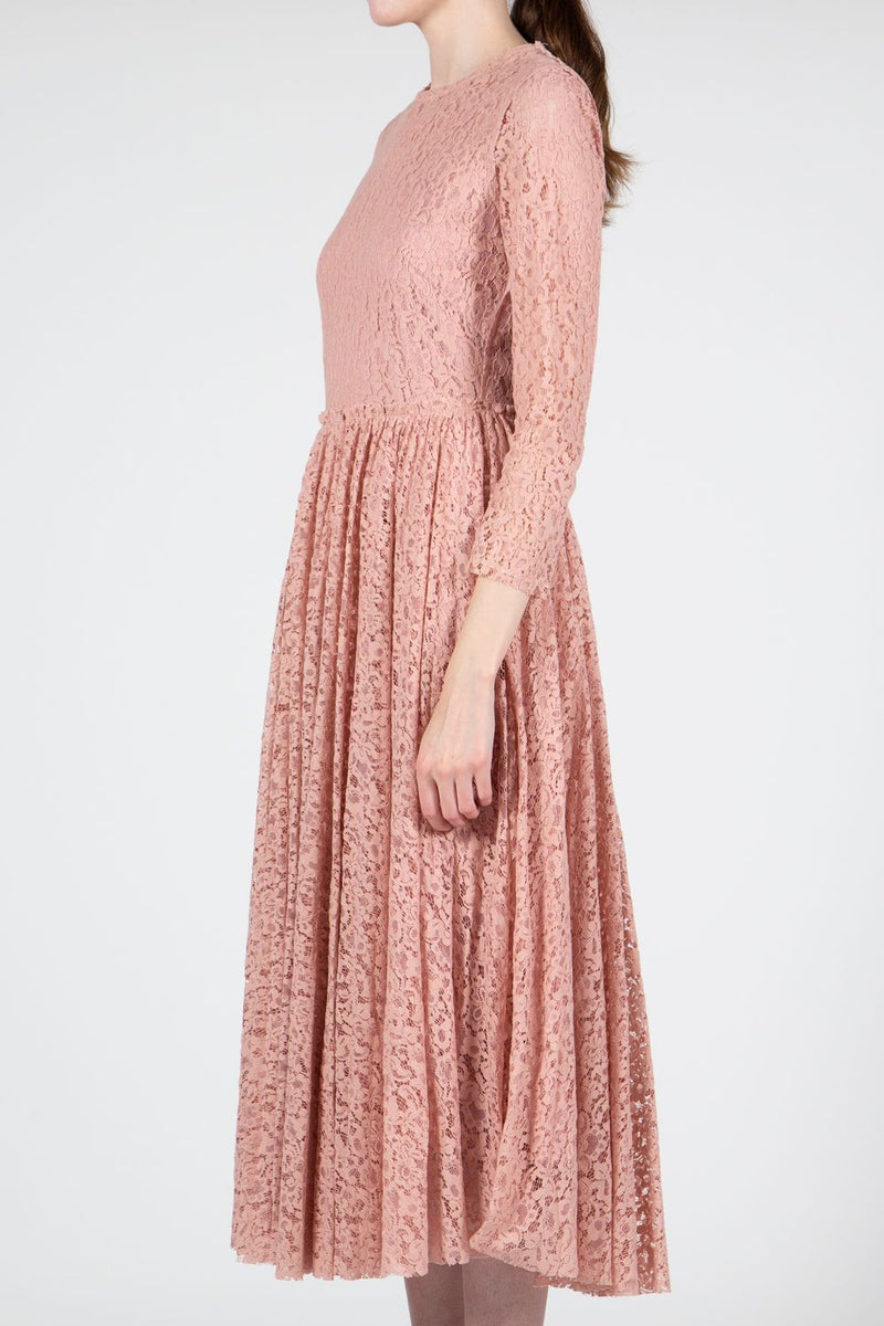 Midi Length Lace Dress