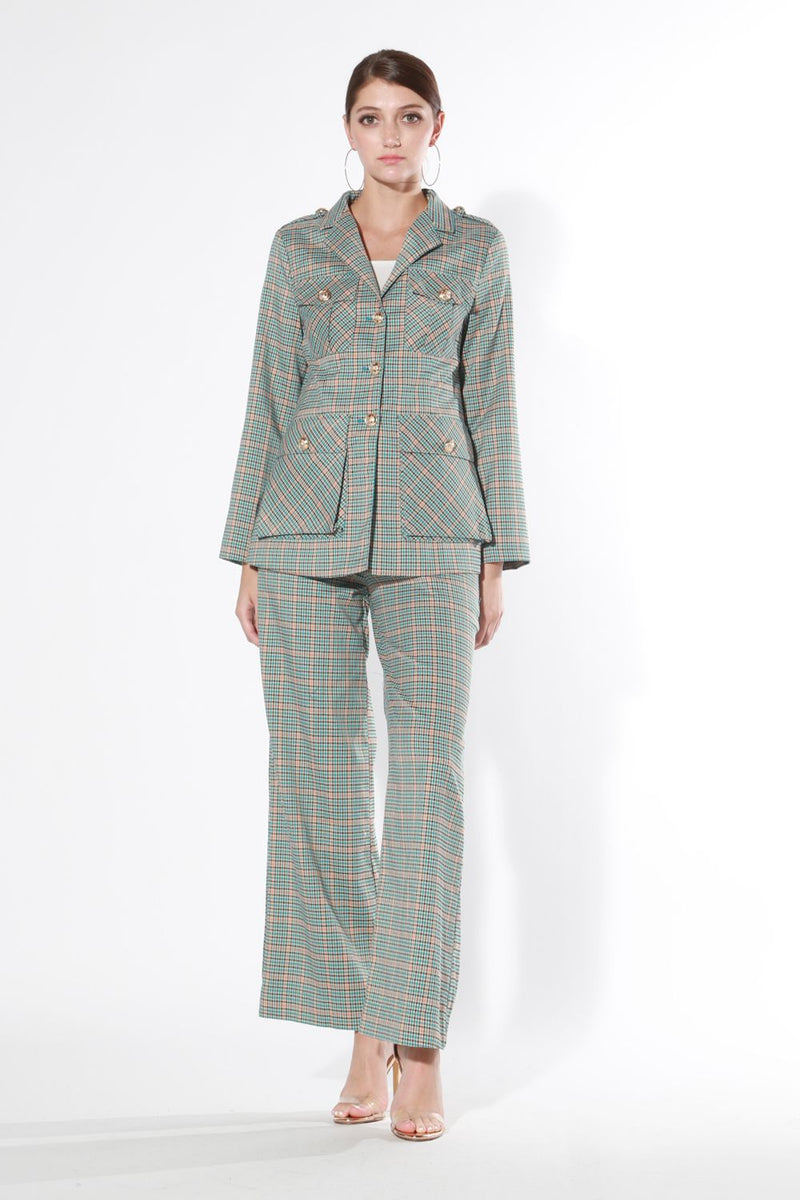 Plaid Suit Set - Shop Beulah Style