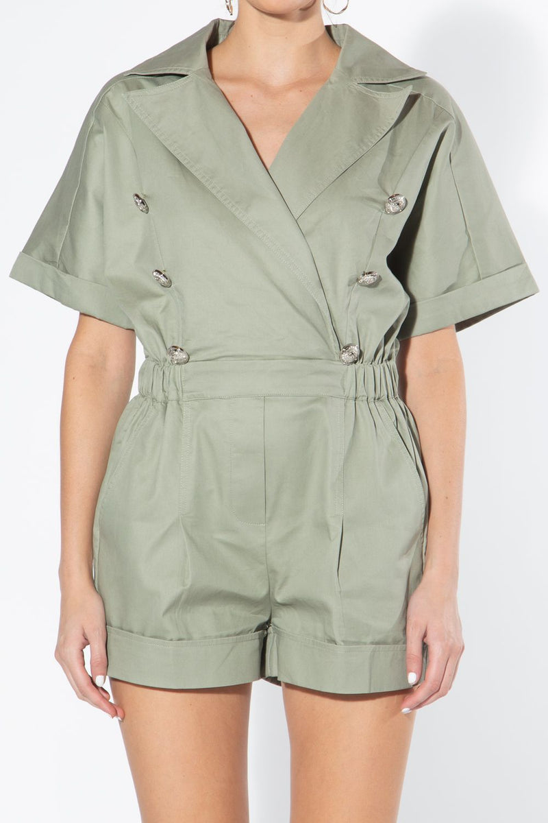 Notch Collar Romper - Shop Beulah Style