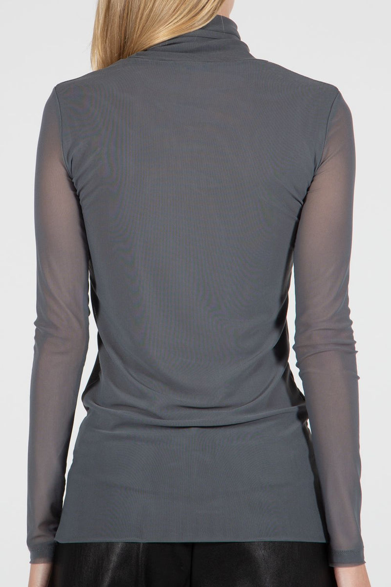 High Neck Mesh Top - Shop Beulah Style