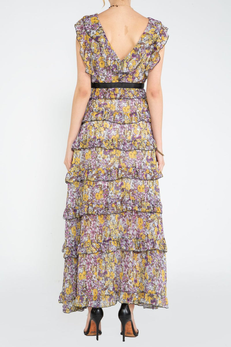 Maxi Dress with Tiered Ruffles - Shop Beulah Style