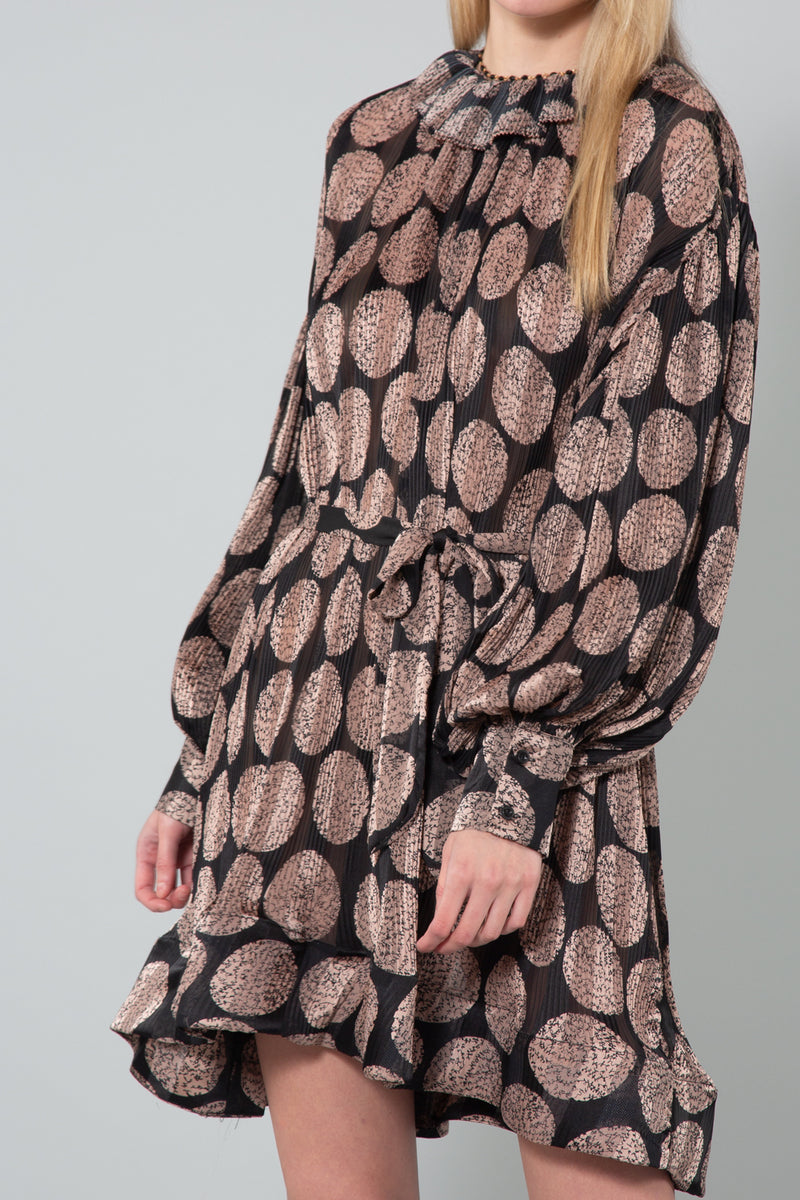 Printed Crickled Midi Length Dress - Shop Beulah Style
