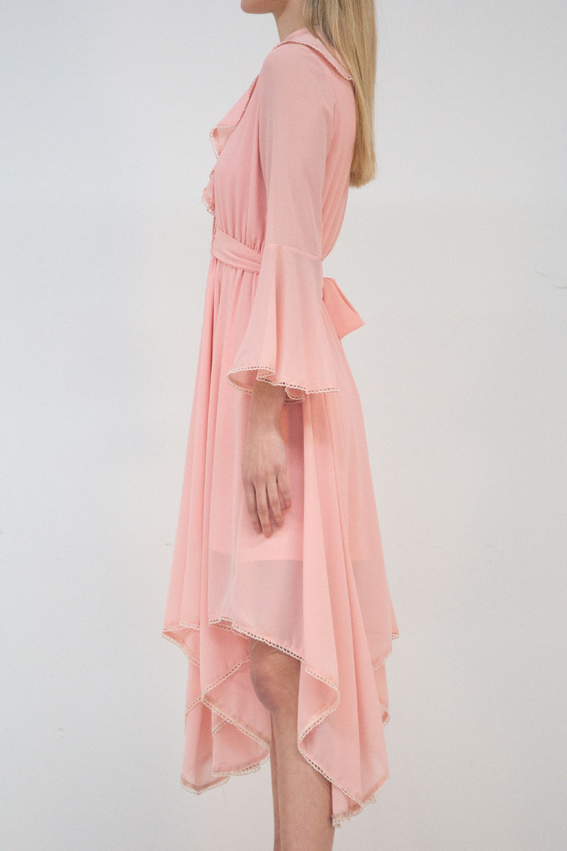 Delicate Sheer Woven Midi Dress - Shop Beulah Style