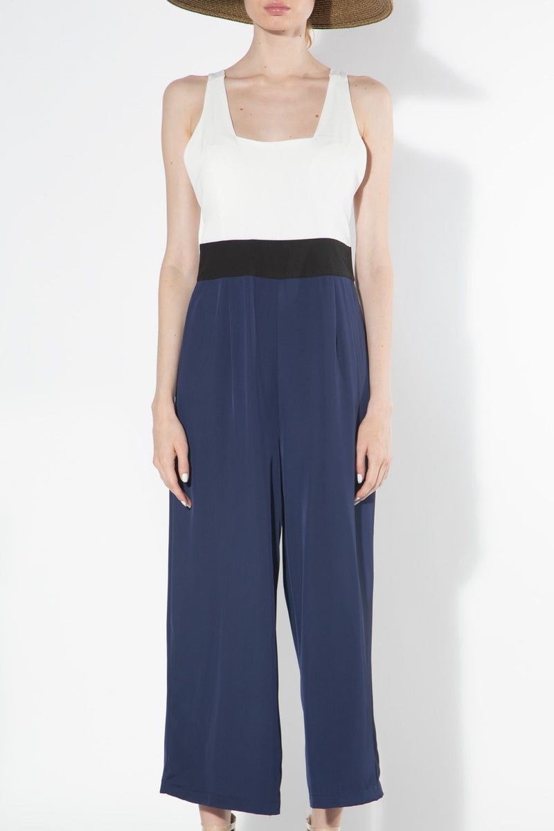 Color Blocked Jumpsuit - Shop Beulah Style