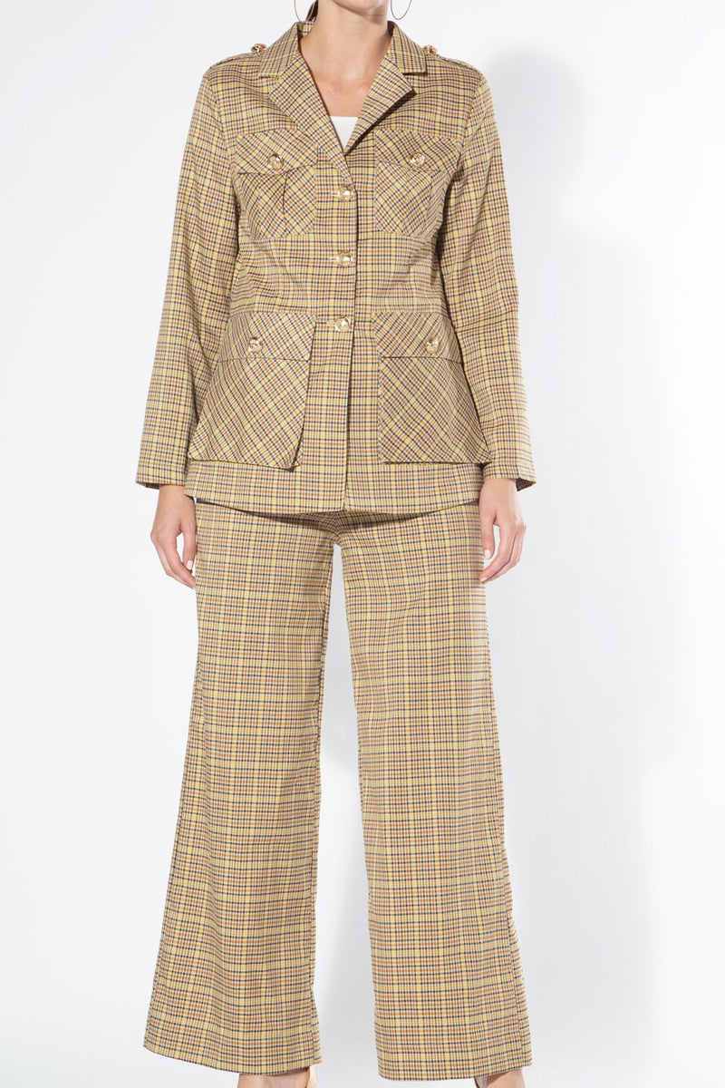 Plaid Suit Set