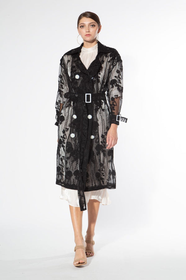 Organza Embroidery Coat