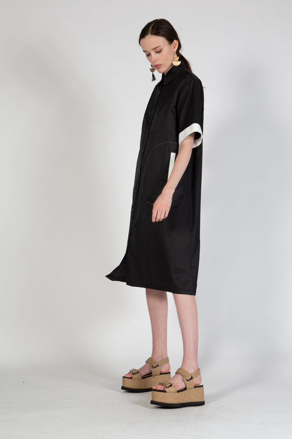 Knee Length Dress with Relaxed Body - Shop Beulah Style