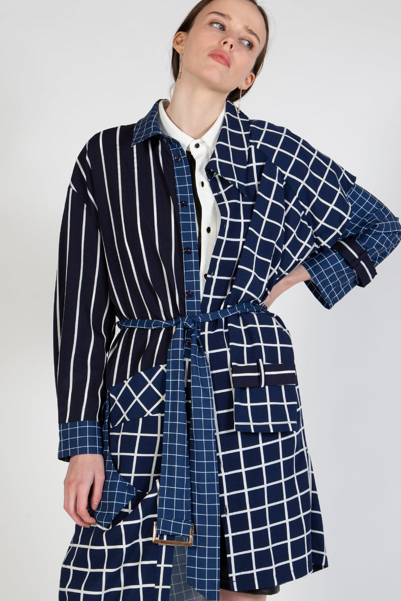 Light Coat with Mixed Stripes - Shop Beulah Style