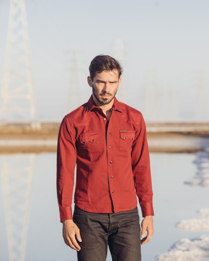 Dollard Shirt - Two Tone Red Twill
