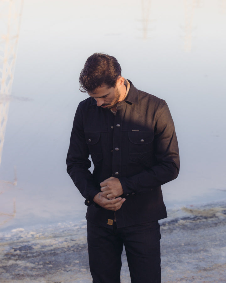 Copeland Shirt - Black Gunpowder Denim
