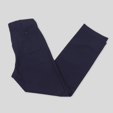 New Reco Trouser- Navy Double Sateen