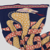 Compressed Wool Scarf - Weaving Cobras - Navy