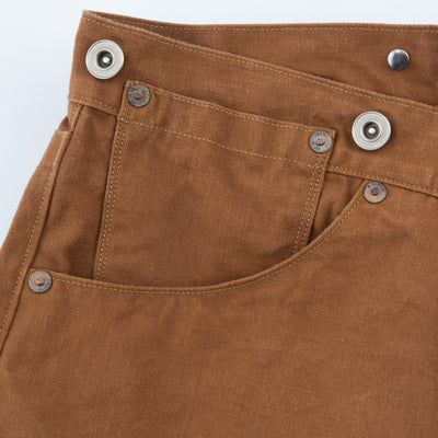 1870s Tailor Made Waist Overalls - Brown Duck Canvas