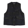 Ranger Vest - Navy Wool/Linen Check
