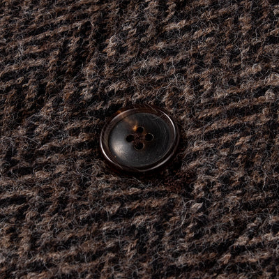 Evans Jacket - Brown Herringbone Knit Wool
