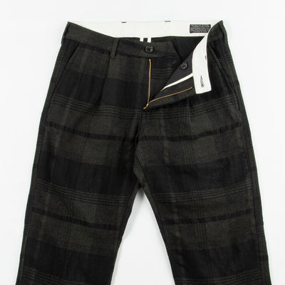 Roger Trousers - Military Wool/Linen Check