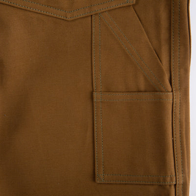 The Real McCoy's 8 Hour Union Brown Canvas Double Knee Trouser - Standard & Strange