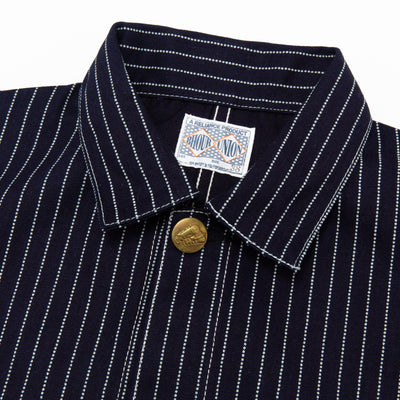8 Hour Union Indigo Wabash Stripe Chore Jacket