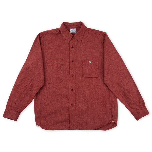 c5978e32 8 Hour Union Twist Chambray Work Shirt - Red