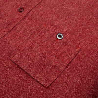 8 Hour Union Twist Chambray Work Shirt - Red