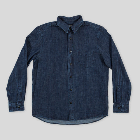 8 oz Indigo Overshirt - Enzyme