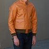 The Real McCoy's Type A-2 Leather Jacket - Raw Sienna
