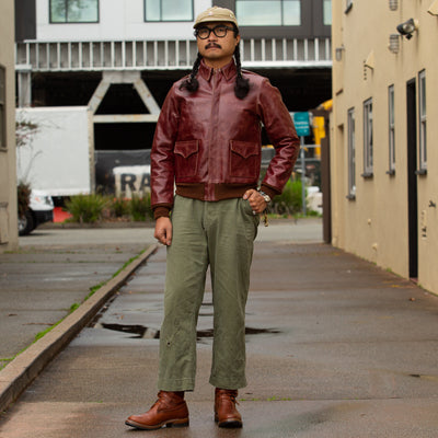 The Real McCoy's The Real McCoy's Type A-2 Leather Jacket - Yume Korozen Dye - Standard & Strange