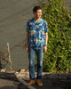 Aloha Shirt - Crash Denim Rayon - Blue