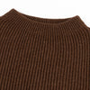 Merino Wool Crewneck Sweater - Natural Brown