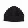 Short Merino Wool Beanie - Black