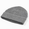 Short Merino Wool Beanie - Gray