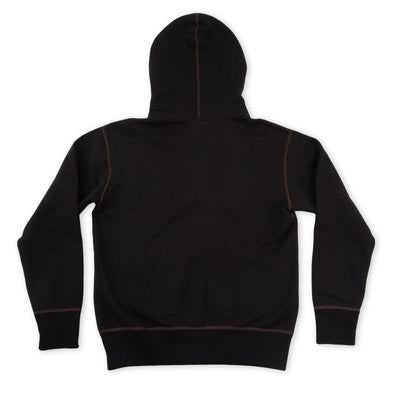 Ball Park Full Zip Hooded Sweatshirt - Black
