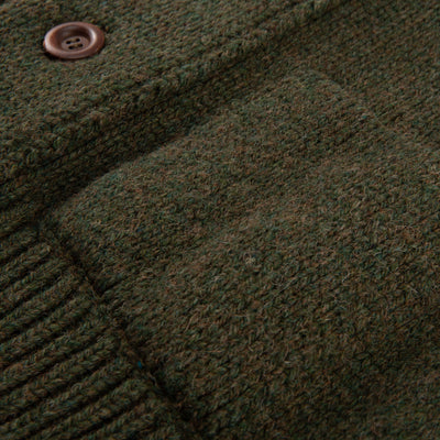 Bear Nadir Knitted Cardigan - Khaki