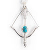 Bow & First Arrow Pendant / Turquoise P-218