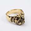 Brass Bulldog Ring