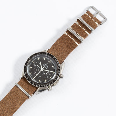 Brown Roughout Leather NATO Strap - 20mm