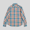 Bryson Shirt - Bleached Blue/Orange Flannel