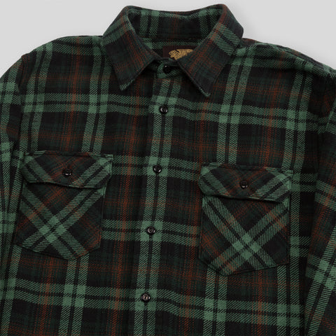 Bryson Flannel Shirt - Overdye Green