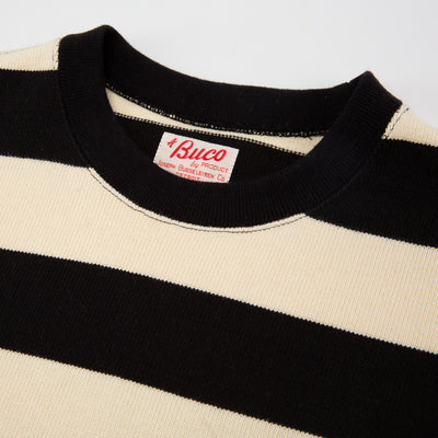 Buco Heavy Stripe Racing Jersey - White/Black