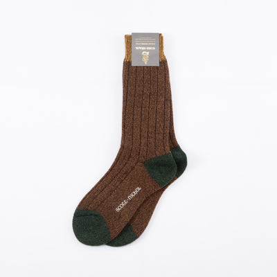 Burghley Wool Sock - Conker Marl
