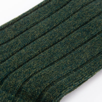 Burghley Wool Sock - Forest Marl